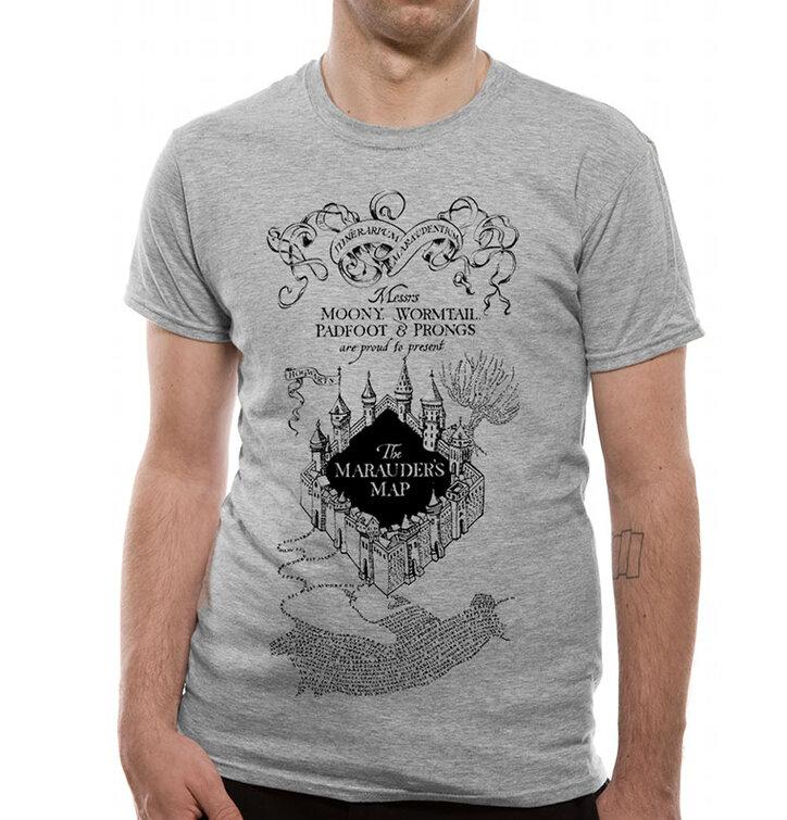 Tricou Harry Potter Harta Ștrengarilor gri