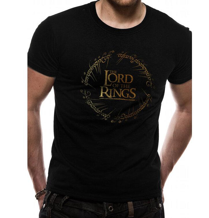 Tričko Pán prstenů Gold Foil