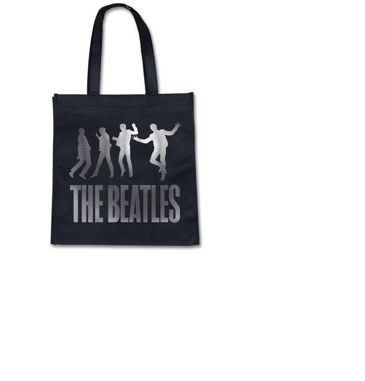 Čierna plátená eko taška The Beatles Jump