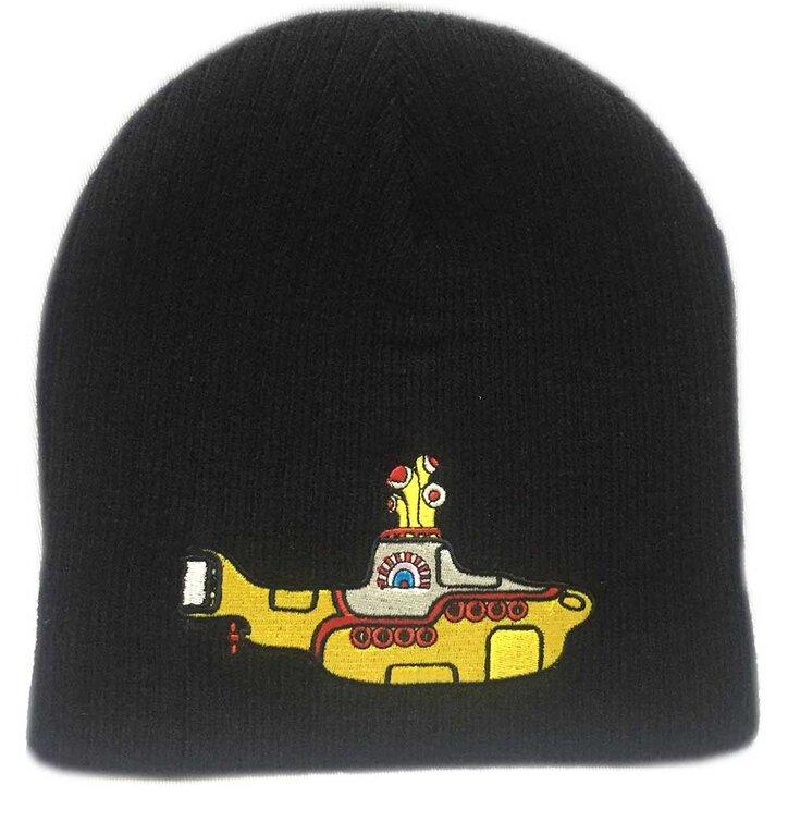 Čierna beanie čiapka The Beatles Yellow Submarine