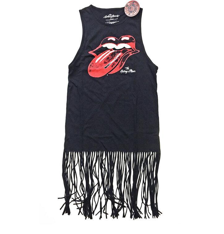 Festivalové minišaty The Rolling Stones Vintage Tongue Logo