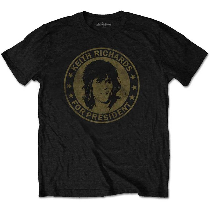 t shirt the rolling stones keith for president dedoles. Black Bedroom Furniture Sets. Home Design Ideas