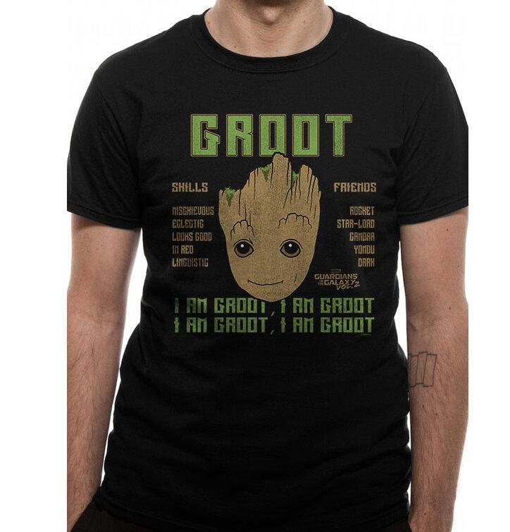 Tričko Guardians of the Galaxy 2 - Groot skills
