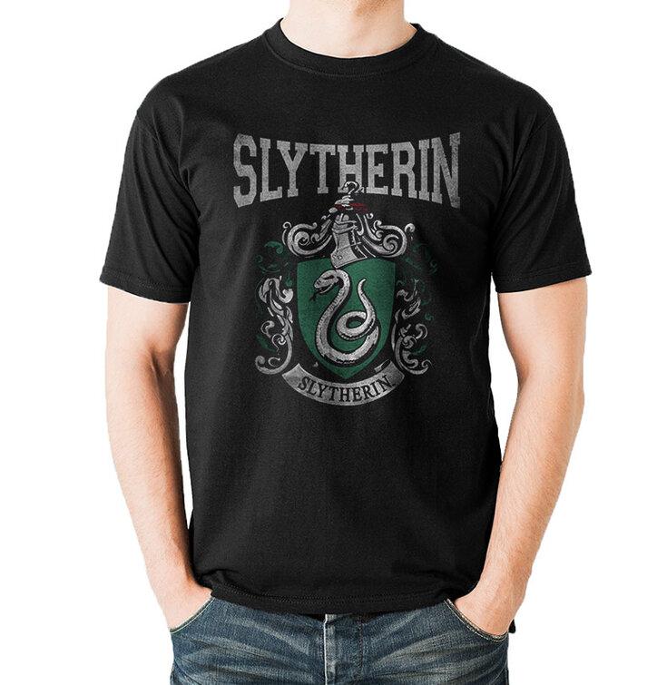 Tričko Harry Potter - Univerzitný erb Slizolinu