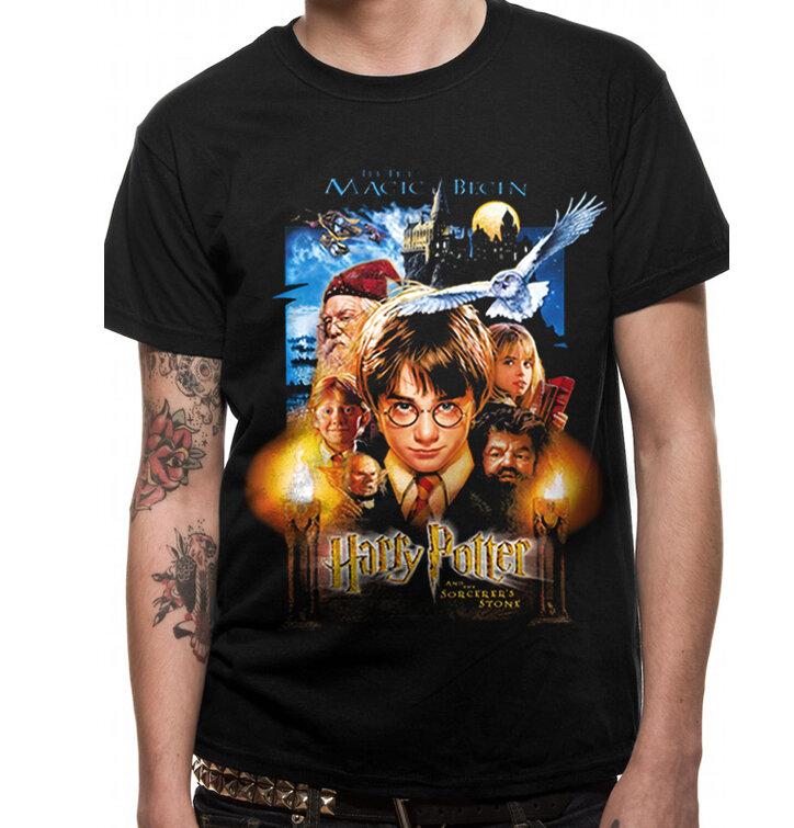 Tričko Harry Potter a Kameň mudrcov - filmový plagát