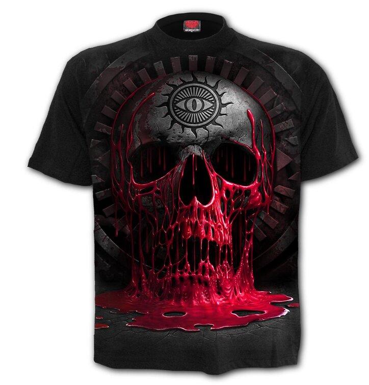 Póló Vérző koponya
