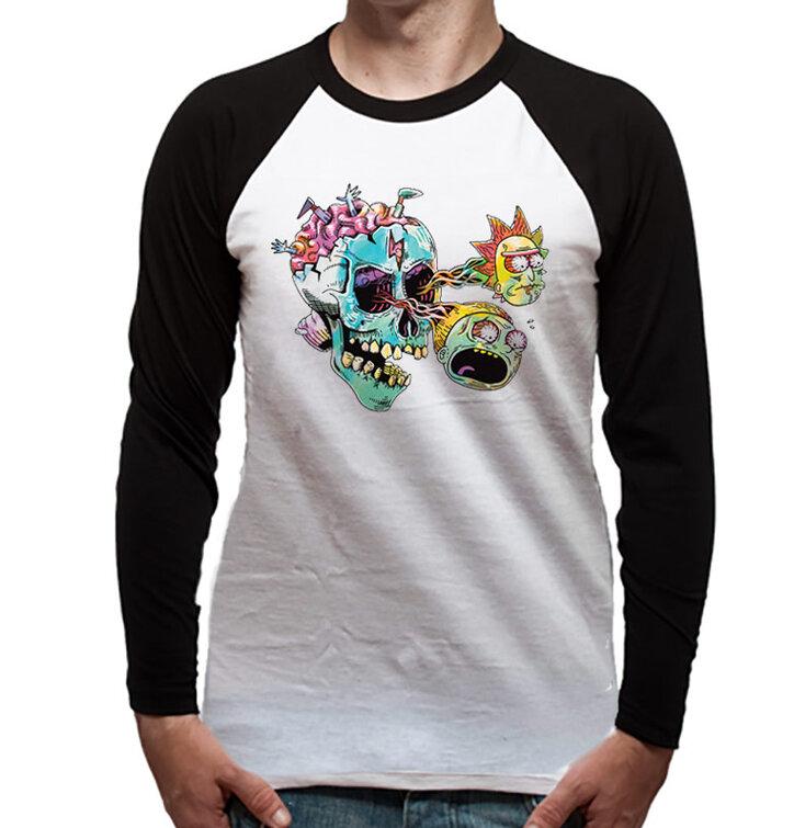Koszulka z długim rękawem Rick and Morty – Skull eye