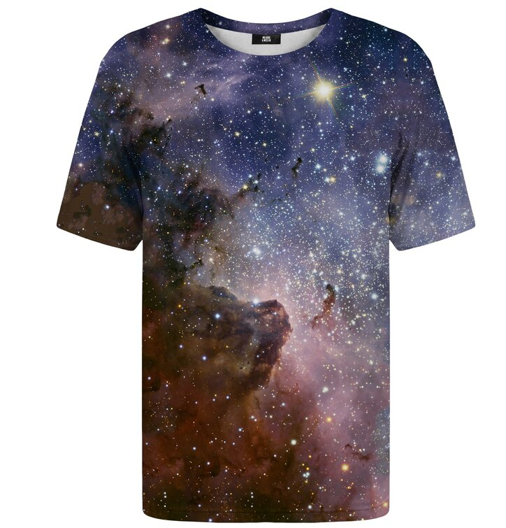 Tričko s krátkym rukávom Fialová galaxia