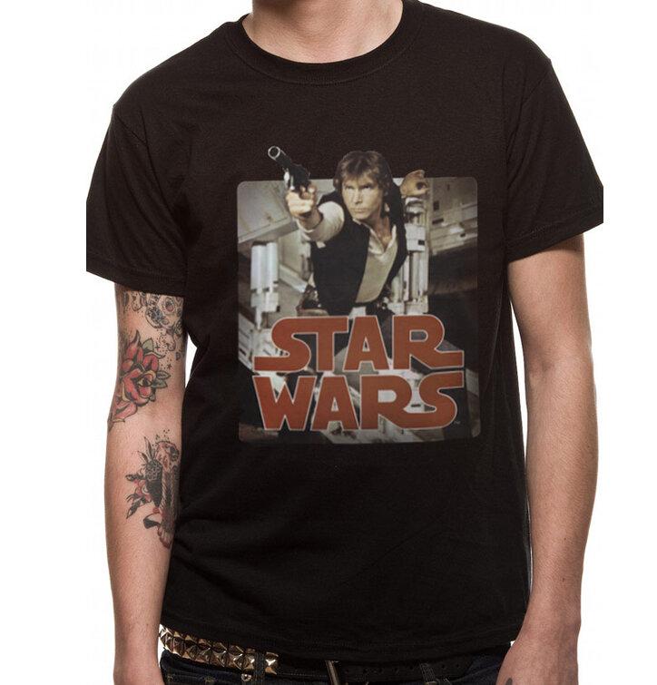 Tričko Star Wars - Han retro badge