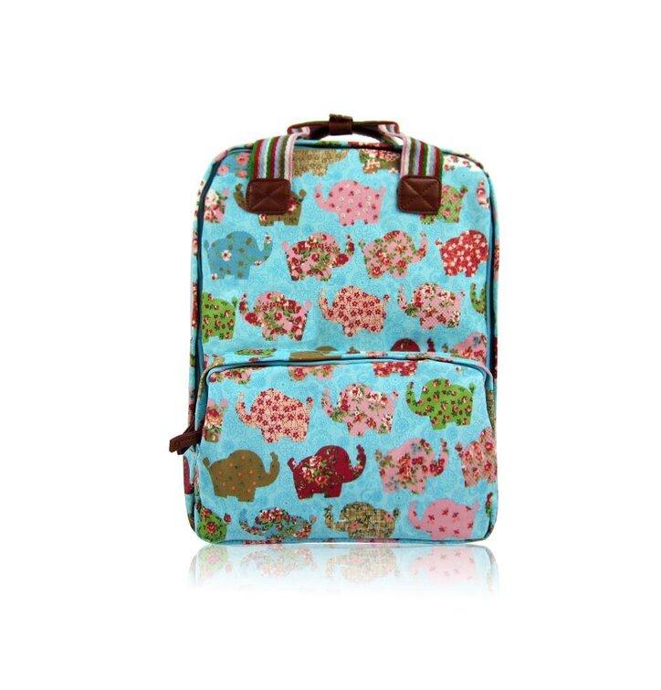 Hledáte originální a neobvyklý dárek  Obdarovaného zaručeně překvapí  Tyrkysový batoh na notebook Retro sloni 010ac3068a