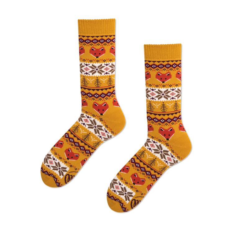 Veselé ponožky Lišky