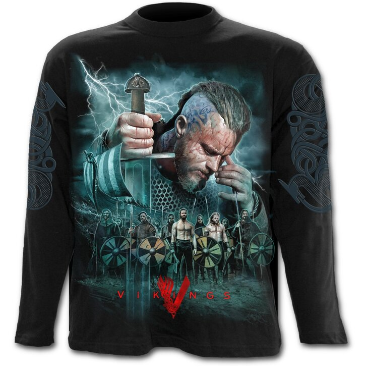 Tričko s dlhým rukávom Vikingovia Bitka