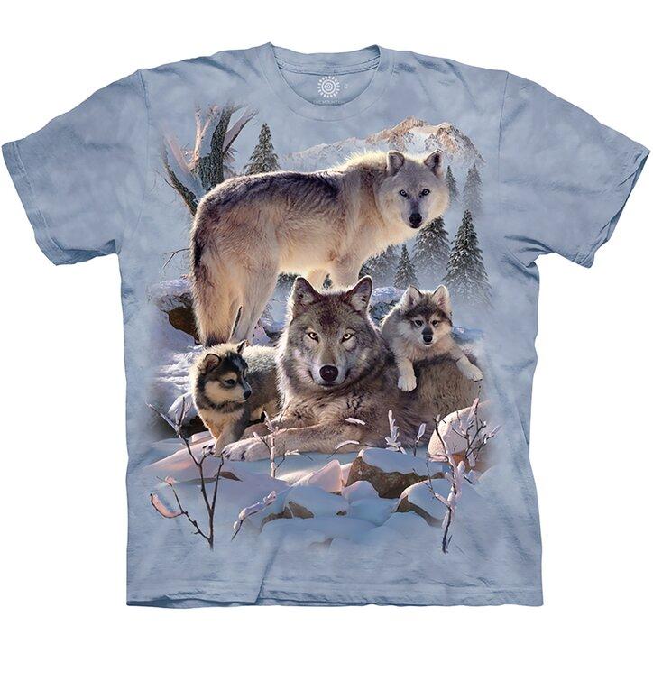 Detské tričko Vlčia rodina na hore