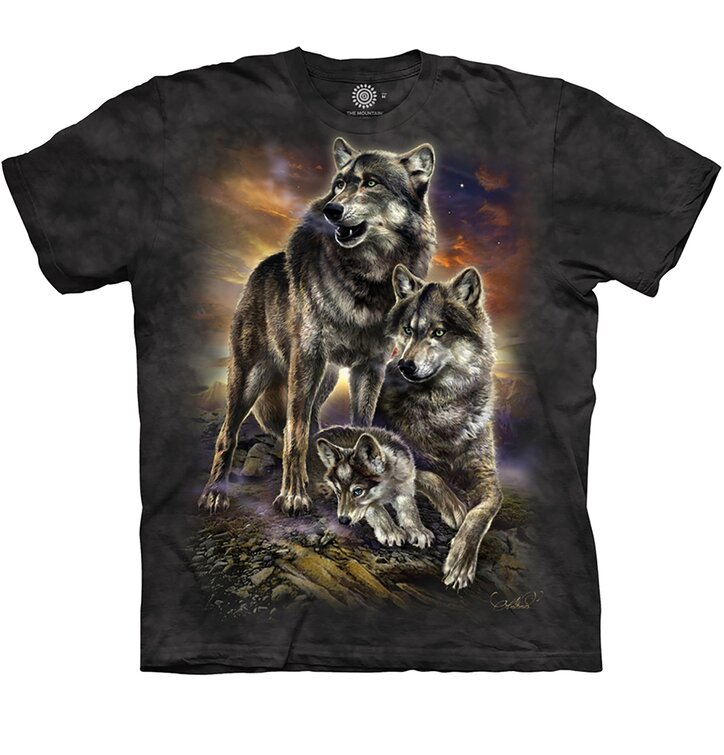 Tricou copii Familia de lupi