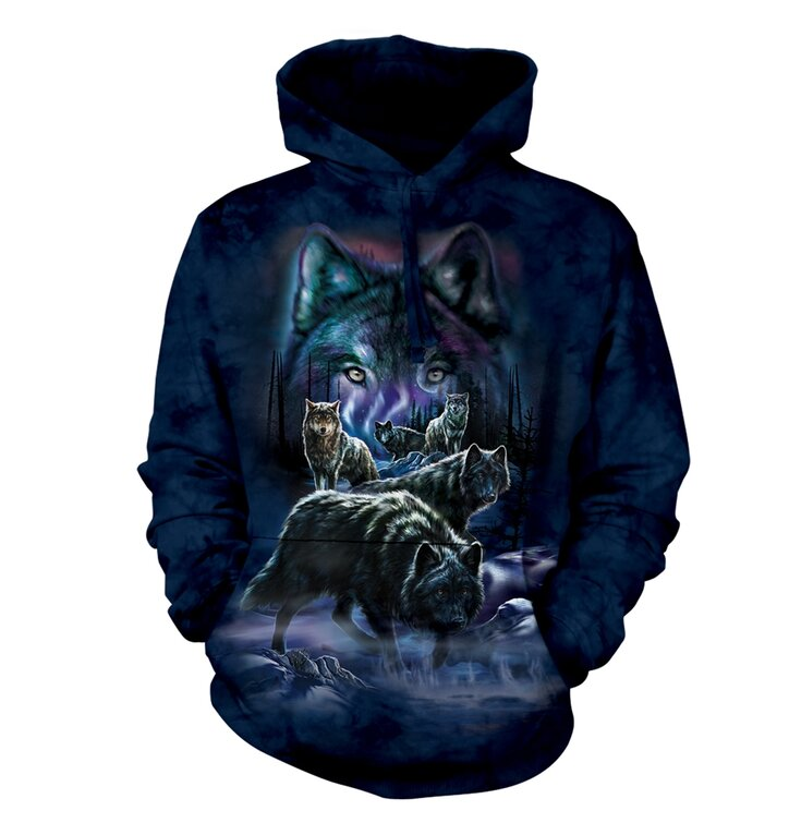 Sweatshirt mit Kapuze Wolfsrudel