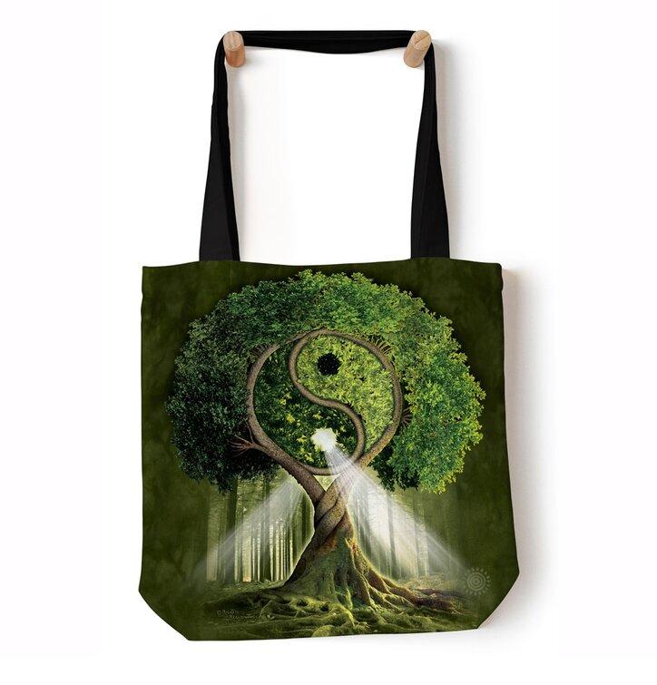 Schultertasche Tote Yin Yang Baum