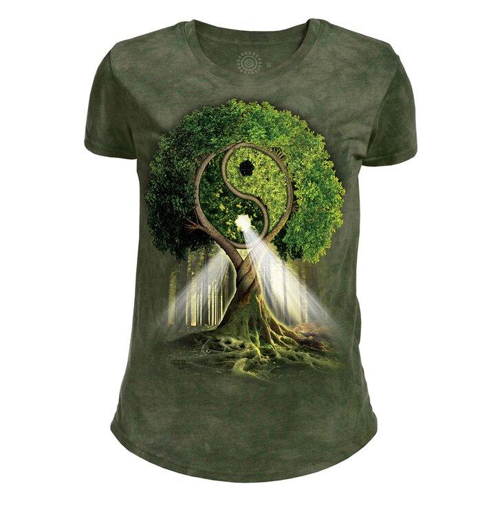 Damen Tri-Blend T-Shirt Yin und Yang