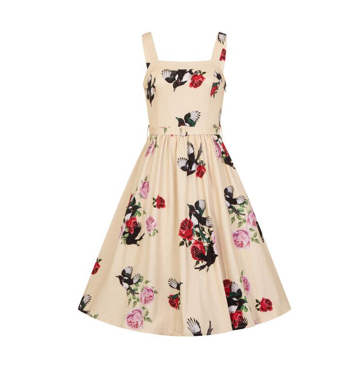 2e95972257 Eredeti ajándék a Dedolestől Sárga retro pin up ruha Nyári hangulat