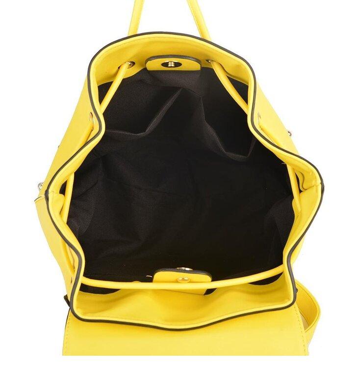c4143de72c Tip na darček Žltý ruksak z PU kože Olívia