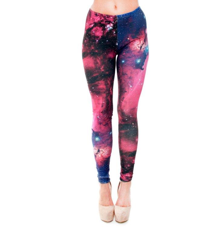 Damen Leggings elastisch Wundergalaxie