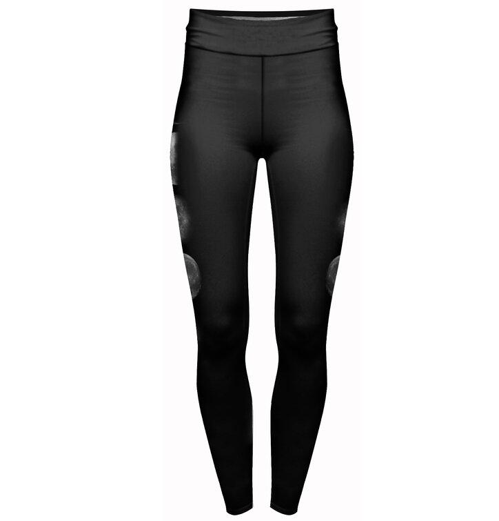Női elasztikus magas derékú leggings Holdfázisok