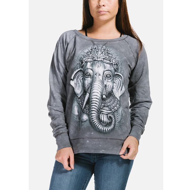Sleva Dámská šedá mikina Ganesha 444af696a04