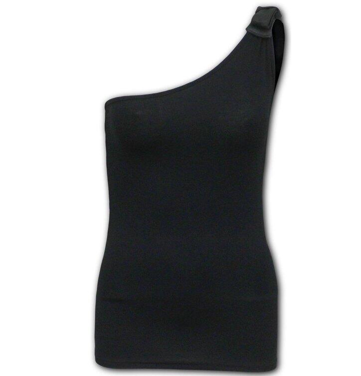 Dámske tielko na jedno rameno Gotická elegancia