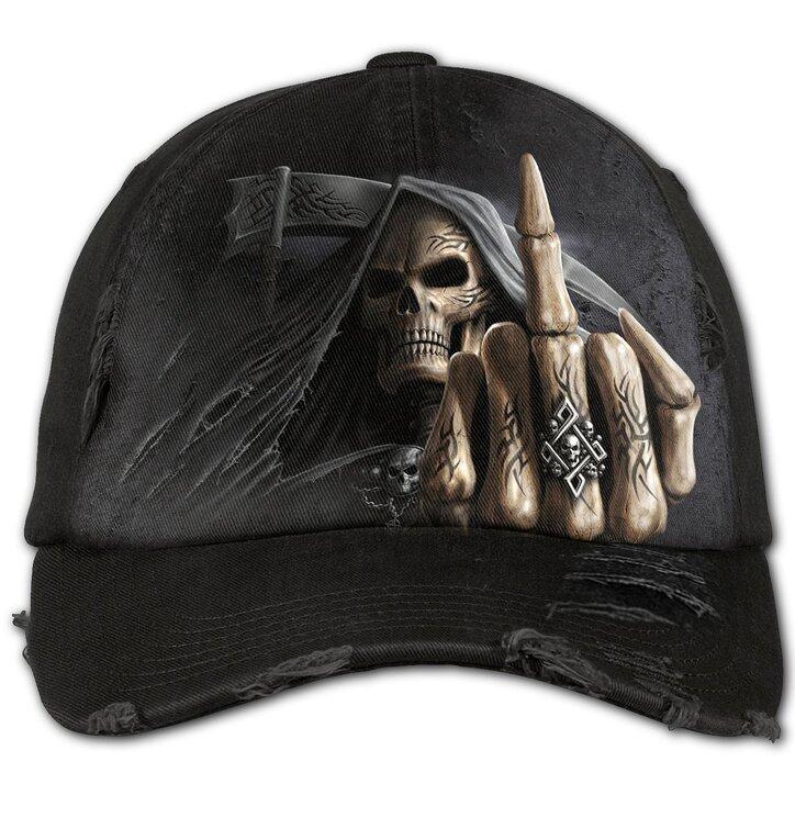 Czarna czapka z daszkiem Kości palców