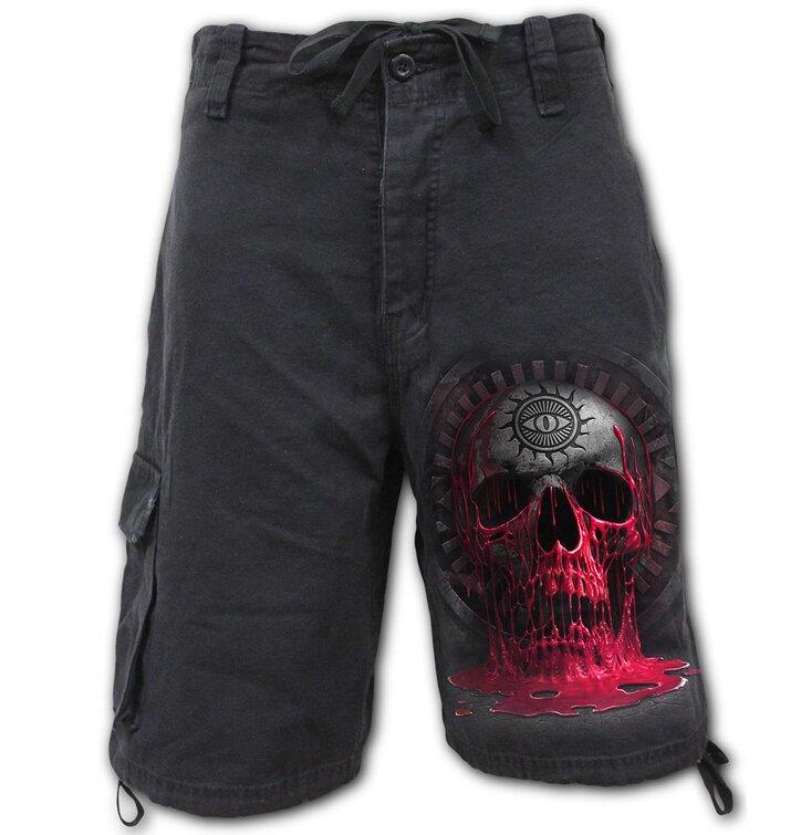 Pánske krátke nohavice Krvácajúca lebka