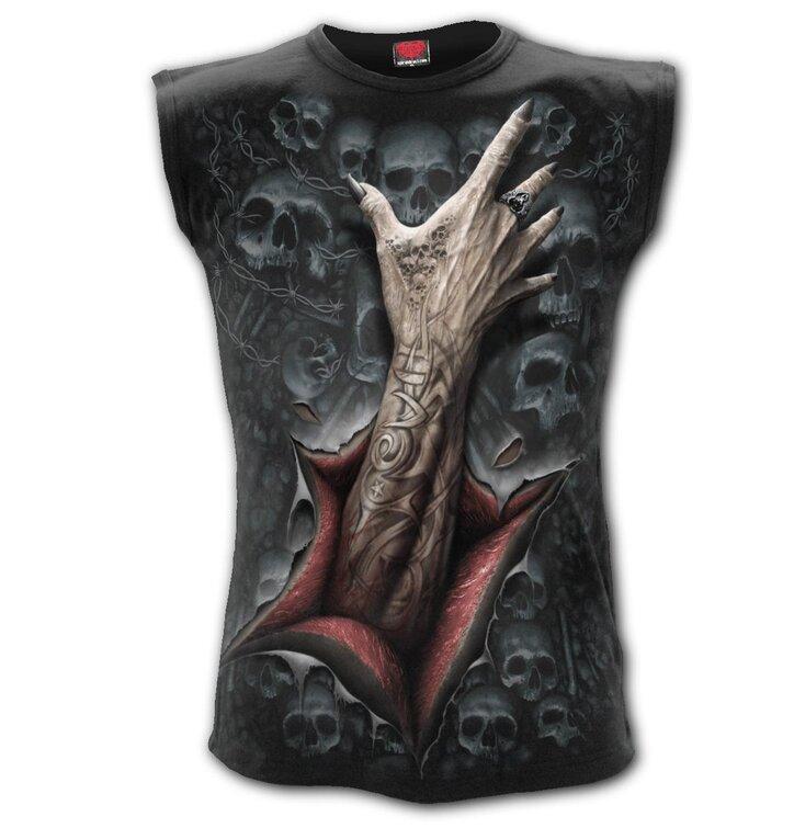 Pánske tielko celopotlač Zombie ruka