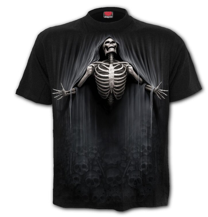 Čierne tričko s krátkym rukávom Oslobodený