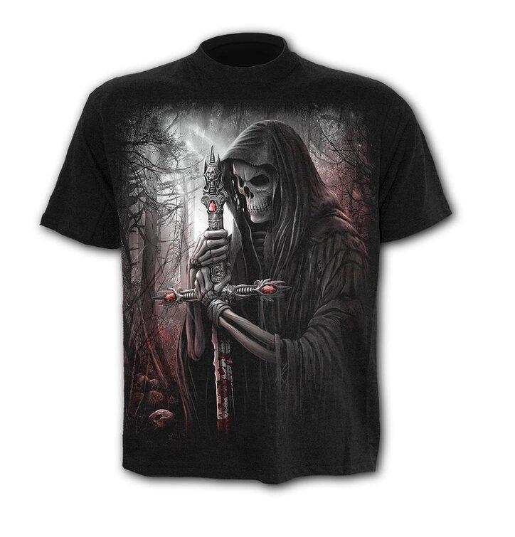 T-Shirt Plus Size Kurzarm Todesritter