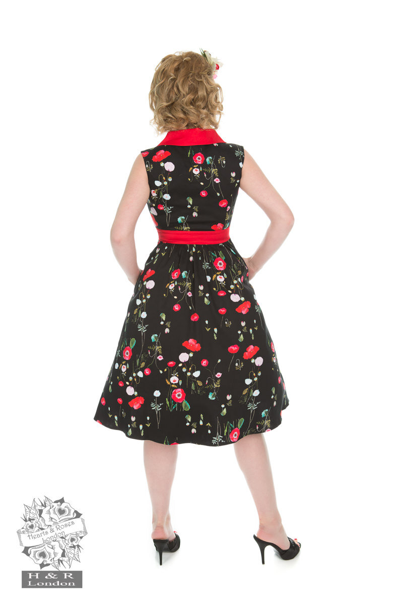 Vintage Pin Up Kleid Klatschmohn