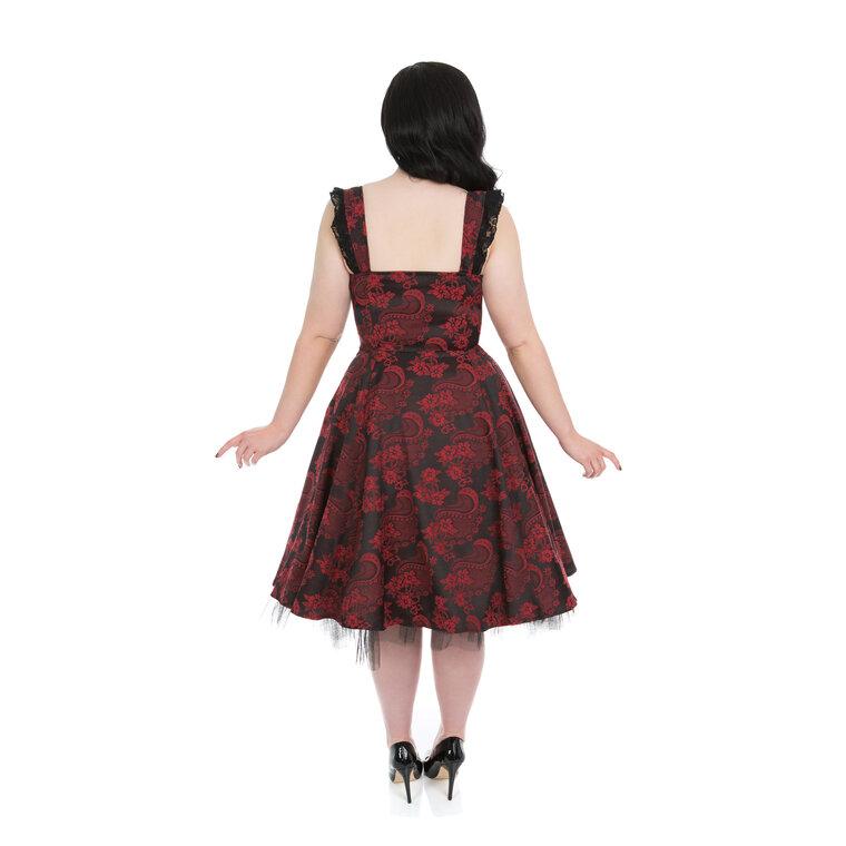 85a71734e8 Szerezzen magának örömet ezzel a Dedoles darabbal Piros-fekete gótikus  retró ruha virágokkal
