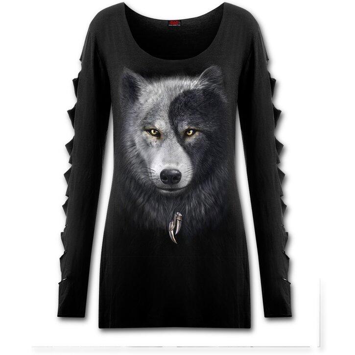 Farkas arc Női hosszú ujjú pulóver