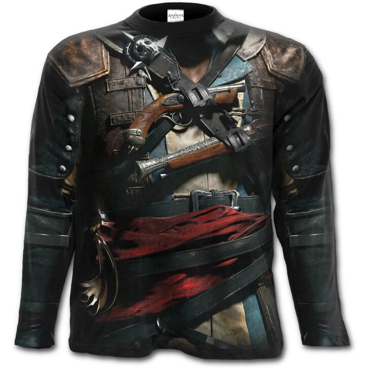 Long Sleeve With Design Assassins Creed Black Flag Dedoles