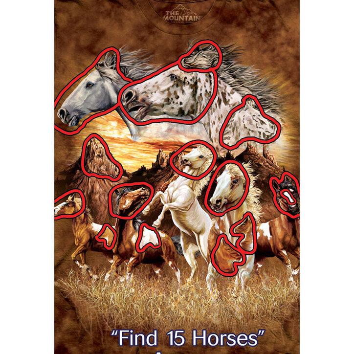 eb3085b9ee Kedvezmény Találd meg a 15 lovat póló