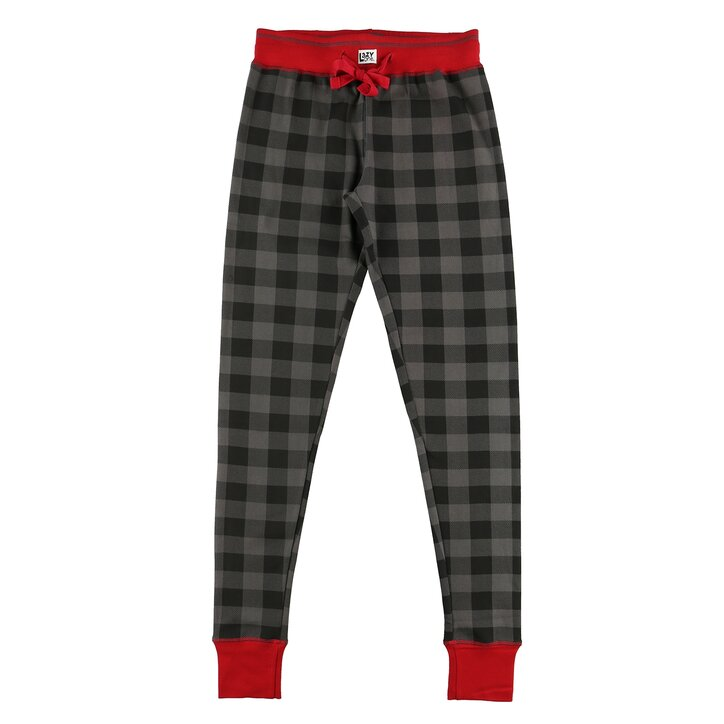 size 40 18285 62ed1 Damen Pyjama-Leggings grau kariert   Dedoles