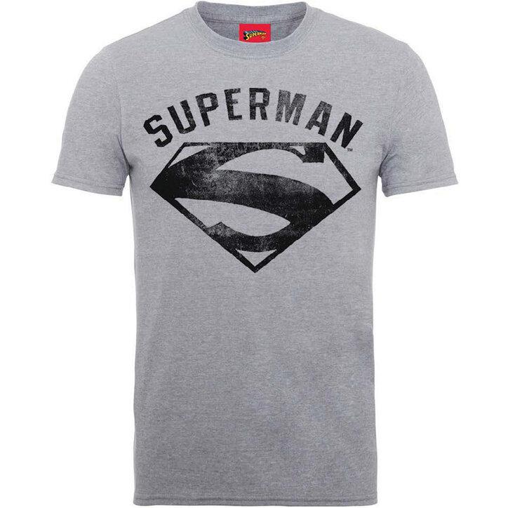 c53d814397 Eredeti ajándék a Dedolestől Világos szürke póló DC Comics Superman Logo  Spray