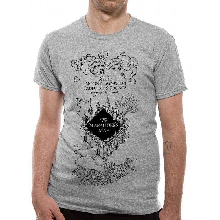 Karte Des Rumtreibers.T Shirt Harry Potter Karte Des Rumtreibers Grau Dedoles