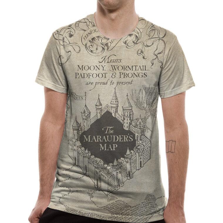 Karte Des Rumtreibers.T Shirt Harry Potter Vollflächig Bedruckt Karte Des Rumtreibers