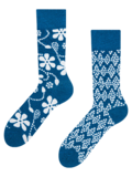 Vesele čarape od bambusa Plavi print