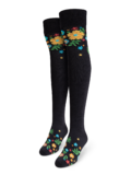 Over the Knee Socks Flowers