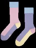 Pastelovo fialové ponožky Trikolóra