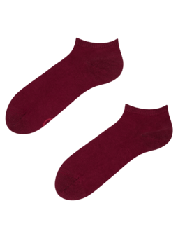 Burgundy Bamboo Ankle Socks