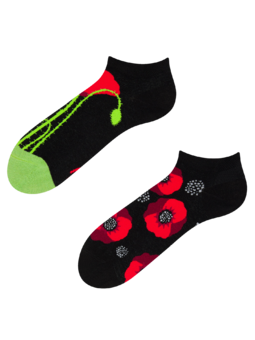 Ankle Socks Poppy Flower