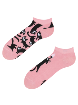 Ankle Socks Pink Cats