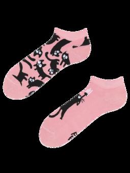 Veselé kotníkové ponožky Růžové kočky