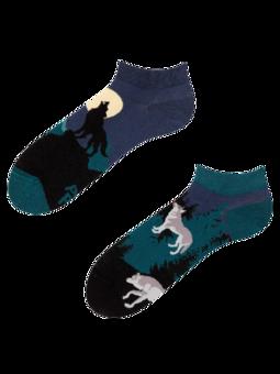 Vrolijke enkelsokken Maanwolf