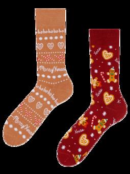 Veselé teplé ponožky Perníkový svet